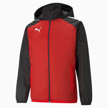 teamLIGA All-Weather 축구 재킷/teamLIGA All Weather Jacket, Puma Red-Puma Black, small-KOR