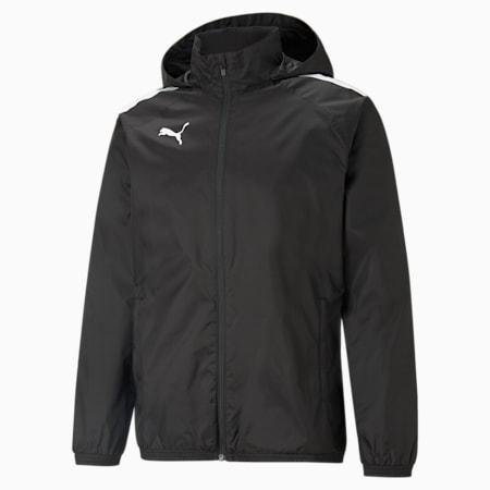teamLIGA All-Weather 축구 재킷/teamLIGA All Weather Jacket, Puma Black-Puma Black, small-KOR