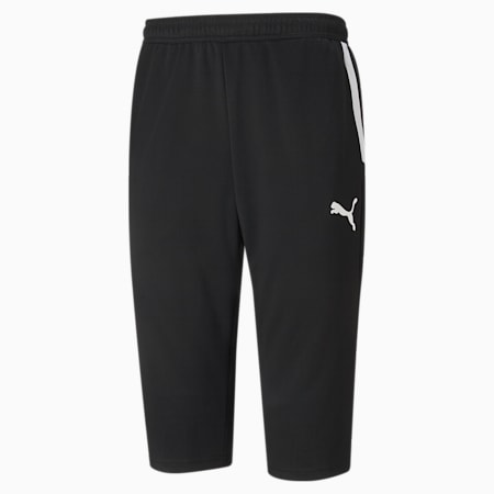teamLIGA Training 3/4 Men's Football Pants, Puma Black-Puma White, small-SEA