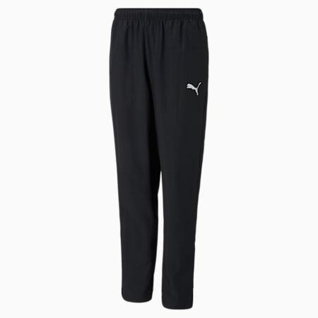 teamRISE Sideline Youth Football Pants, Puma Black-Puma White, small-SEA