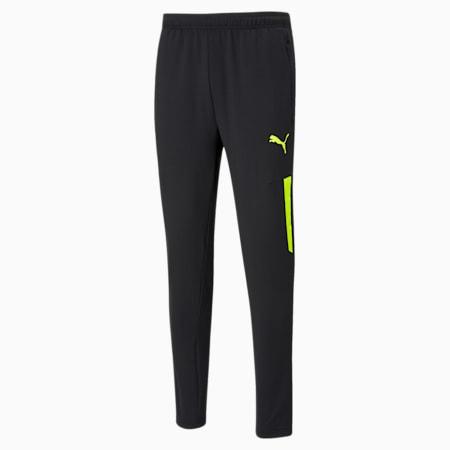 teamLIGA Pro Training Men's Football Pants, Puma Black-Yellow Alert, small-IND