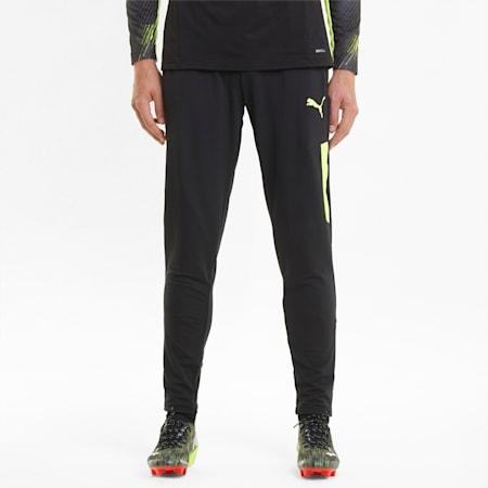 teamLIGA Pro Training Men's Football Pants, Puma Black-Yellow Alert, small-SEA