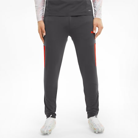 Pantalon d'entraînement de football teamLIGA Pro homme, Asphalt-Red Blast, small
