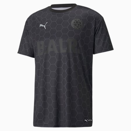 PUMA x BALR. Men's Football Jersey, Puma Black, small