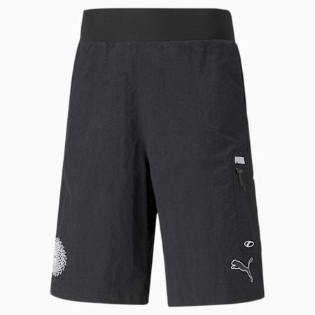 FUßBALL King Men's Football Shorts, Puma Black, small-SEA
