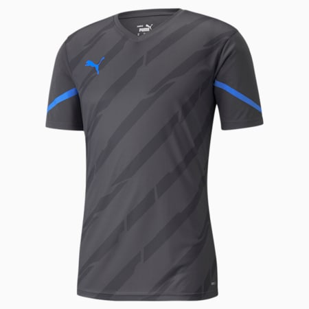 Camiseta de fútbol individualCUP para hombre, Bluemazing-Asphalt, pequeño