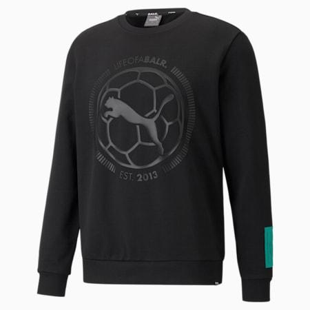 PUMA x BALR. Crew Neck Men's Football Sweatshirt, Cotton Black, small-GBR