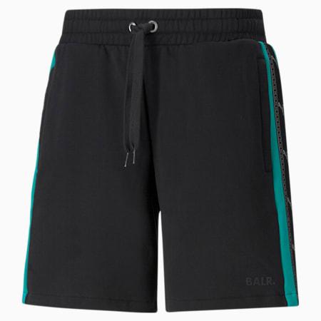PUMA x BALR. Men's Football Shorts, Cotton Black, small-GBR