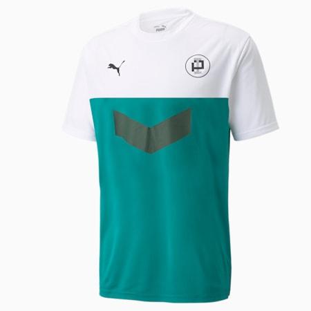Camiseta de fútbol FUßBALL '90's para hombre, Puma White-Parasailing, pequeño