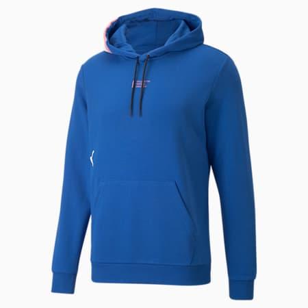 Sudadera con capucha para fútbol FUßBALL '00s para hombre, Team Power Blue, pequeño