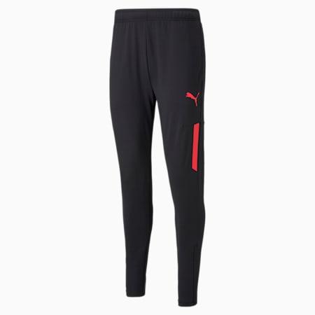 IndividualCUP Men's Football Training Pants, Puma Black-Sunblaze, small