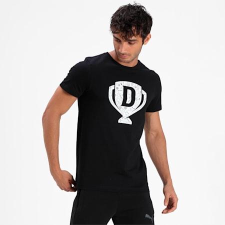 PUMA x Dream11 Cotton Roundneck  Men's Cup Graphic T-shirt, Puma Black, small-IND