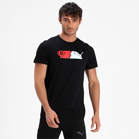 PUMA x Dream11 Cotton Roundneck  Men's Logo Graphic  Slim-fit T-shirt, Puma Black, small-IND