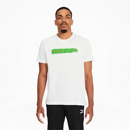Camiseta de mangas cortasMax Sansing Dynamicpara hombre, Puma White, pequeño