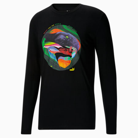 Camiseta de mangas largasMax Sansing Ready para hombre, Puma Black, pequeño