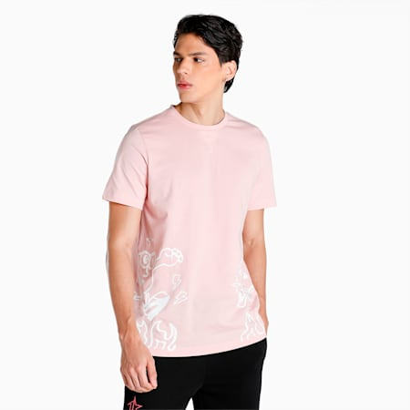 PUMA x 1DER Men's T-Shirt, Lotus, small-IND