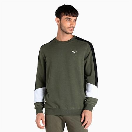 PUMA x 1DER Crew Men's Sweat Shirt, Grape Leaf, small-IND