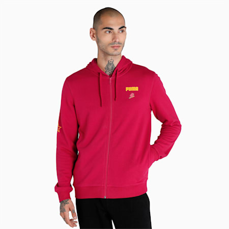 PUMA x 1DER Full-Zip Men's Hoodie, Persian Red, small-IND
