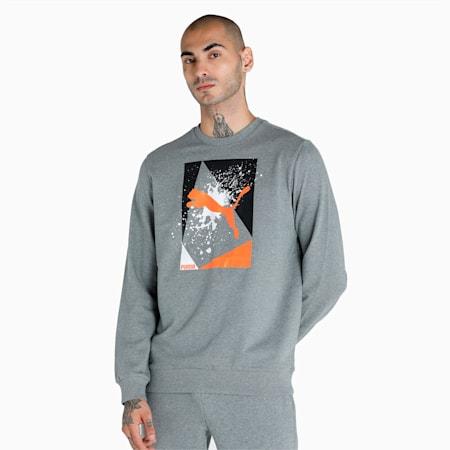 PUMA x 1DER Graphic Crew Men's Sweat Shirt, Medium Gray Heather, small-IND