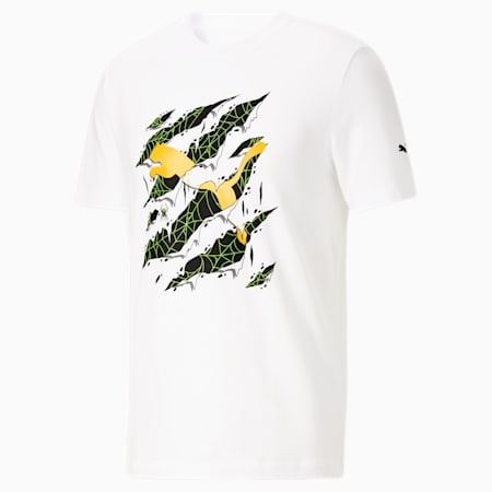 Camiseta Claw Scratch para hombre, Puma White, pequeño