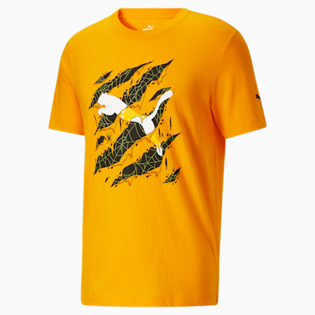 Camiseta Claw Scratch para hombre, Saffron, pequeño