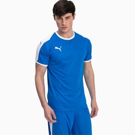 Football Men's LIGA Jersey, Electric Blue Lemonade-White, small
