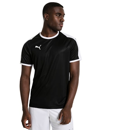 LIGA voetbaljersey heren, Puma Black-Puma White, small