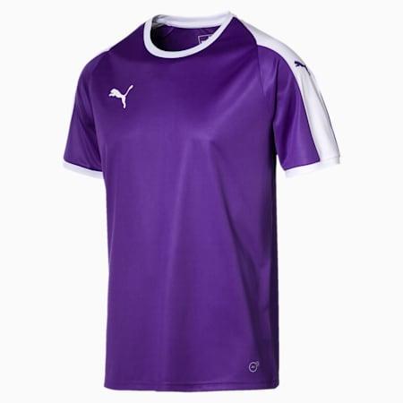 Liga Men's Jersey, Prism Violet-Puma White, small-IND