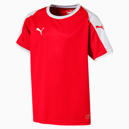 Liga Junior Football Jersey, Puma Red-Puma White, small