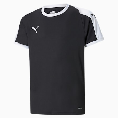 Liga Junior Football Jersey, Puma Black-Puma White, small-GBR