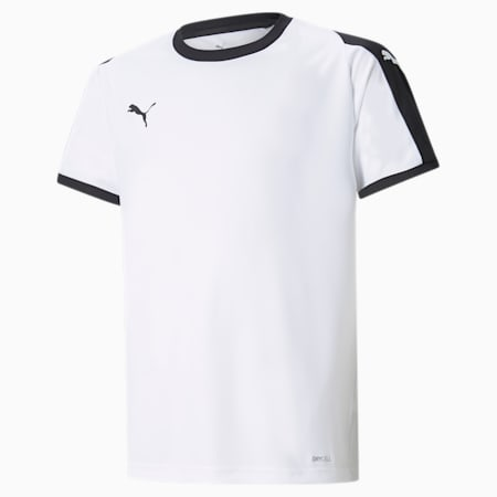 Liga Junior Football Jersey, Puma White-Puma Black, small