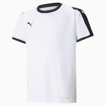 Liga Junior Football Jersey, Puma White-Puma Black, small-GBR