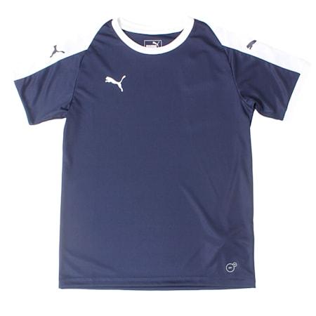 Liga Junior Football Jersey, Peacoat-Puma White, small-IND