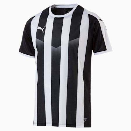 LIGA Men's Striped Football Jersey, Puma Black-Puma White, small-GBR