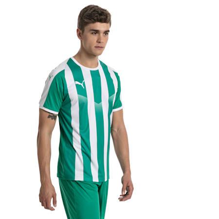 Camisola de futebol às riscas Liga para homem, Pepper Green-Puma White, small