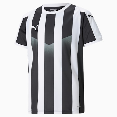 LIGA Striped Kids' Jersey, Puma Black-Puma White, small
