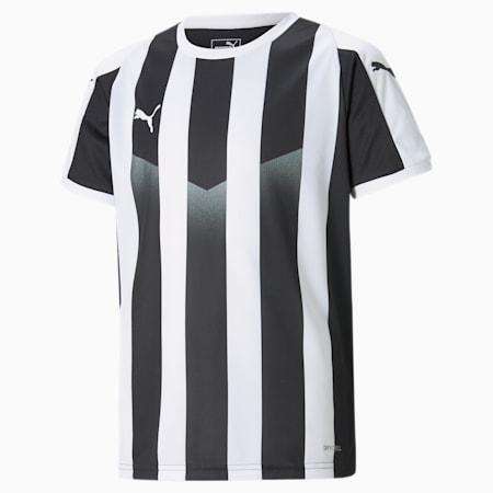 LIGA Striped Kids' Jersey, Puma Black-Puma White, small-GBR