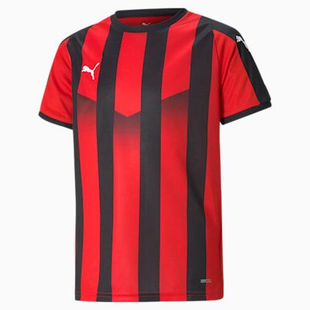 LIGA Striped Kids' Jersey, Puma Red-Puma Black, small