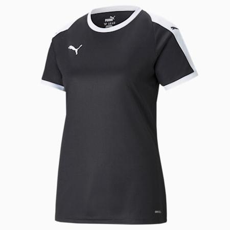 Camiseta de fútbol LIGA para mujer, Puma Black-Puma White, small