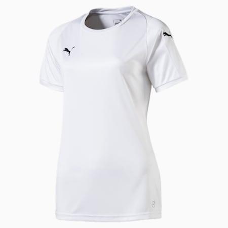 Camiseta de fútbol LIGA para mujer, Puma White-Puma White, small