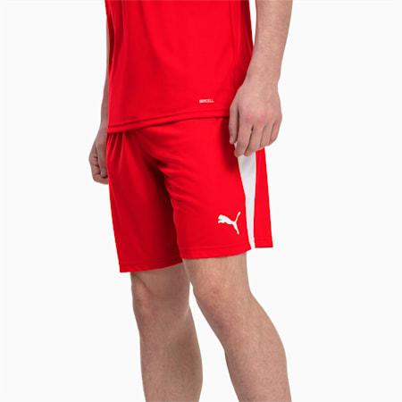 Short de foot LIGA pour homme, Puma Red-Puma White, small