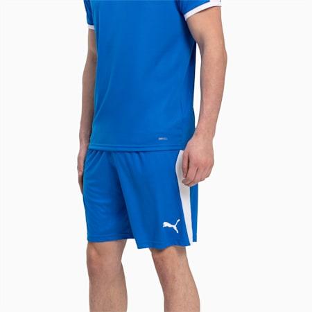 LIGA Men's Shorts, Electric Blue Lemonade-White, small