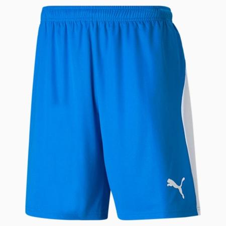 Football Men's LIGA Shorts, Electric Blue Lemonade-White, small