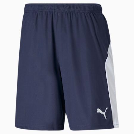 Football Men's LIGA Shorts, Peacoat-Puma White, small