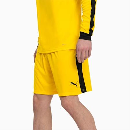 Meskie szorty pilkarskie Liga, Cyber Yellow-Puma Black, small