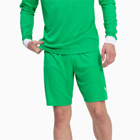 Liga Men's Shorts, Bright Green-Puma White, small