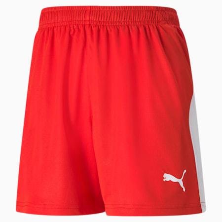 LIGA Kids' Football Shorts, Puma Red-Puma White, small-GBR