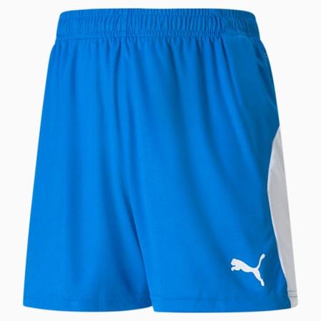 Short de foot LIGA pour enfant, Electric Blue Lemonade-White, small