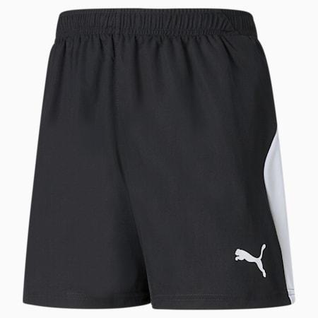 Shorts da calcio LIGA bambino, Puma Black-Puma White, small