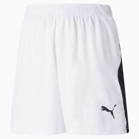 Shorts da calcio LIGA bambino, Puma White-Puma Black, small
